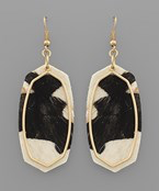 Hexagon & Outline Earrings - Olive Vines Boutique