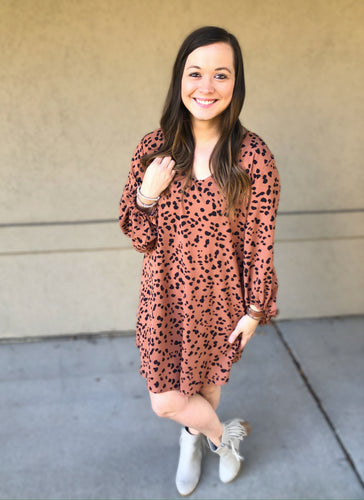 Confidence Dalmation Print Dress - Olive Vines Boutique