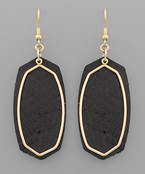 Load image into Gallery viewer, Hexagon & Outline Earrings - Olive Vines Boutique