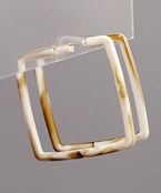 Acrylic Square Open Hoops - Olive Vines Boutique