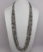 Load image into Gallery viewer, Sead Bead Multi Row Necklace - Olive Vines Boutique