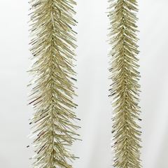 Antique Silver Tinsel Garland with Foil and Red Berries Exclusive Collection made by Lee Display for Terrain Stores