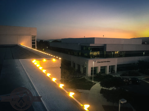 exterior commercial property office building christmas holiday lighting installations professional