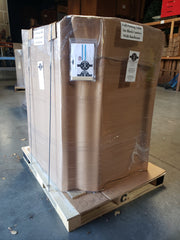 Lee Display's Potting Table ships on a pallet with a freight company in 2 sections.