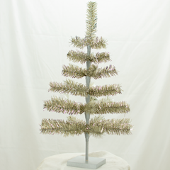 Antique Silver Tinsel 24in Trees Exclusive Collection made by Lee Display for Terrain Stores