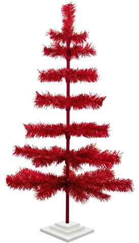 3ft Red Tinsel Tree sold by lee display redirect from cardboard insert blog post