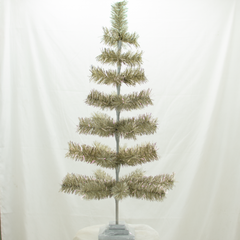 Antique Silver Tinsel 36in Trees Exclusive Collection made by Lee Display for Terrain Stores