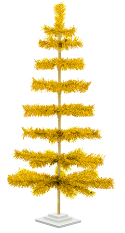 4ft Gold Tinsel Tree sold by lee display redirect from cardboard insert blog post