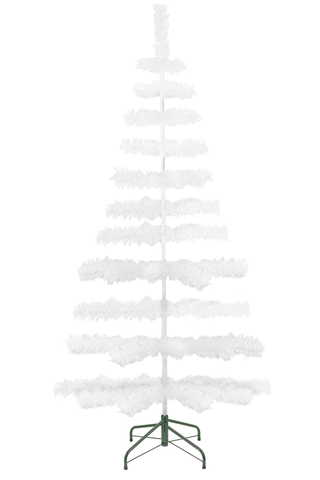 5ft white tinsel trees sold by lee display redirect from cardboard insert blog post