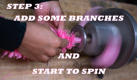 Step 3 of How to Make a Pink Christmas Tree from Lee Display using our Branching Machines