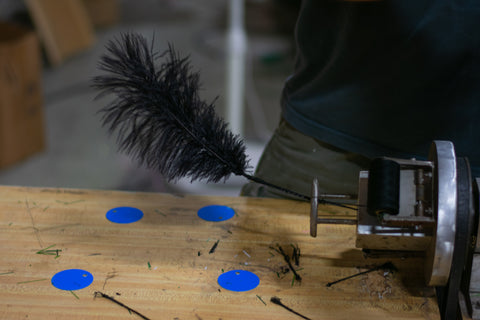 Branch Machine with Ostrich Feather
