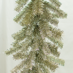 Antique Silver Tinsel Brush Garland Exclusive Collection made by Lee Display for Terrain Stores