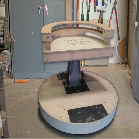 Lee Display manufacturing a custom built Judge's Chair for a promotional event.