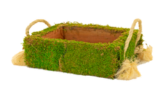 Your planter box with real moss covering the outside - from Lee Display