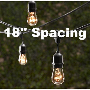 Outdoor Patio String Lights with 18in Spacing Shop Lee Display