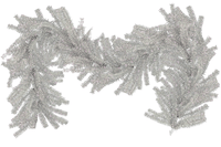 Silver 1in Brush Christmas Garland