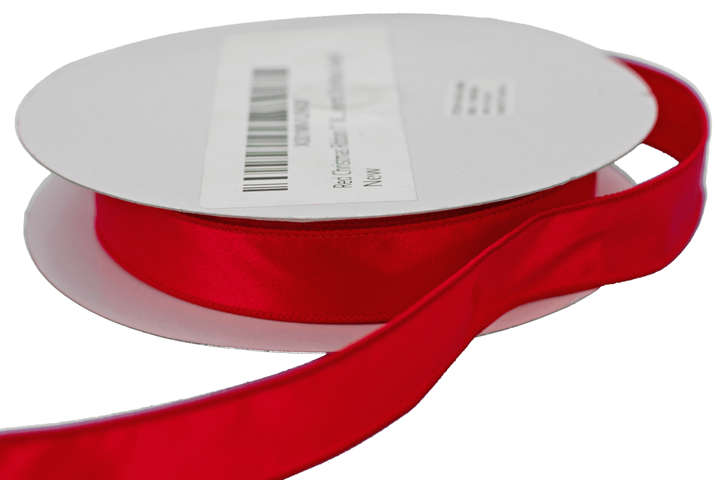 Roll of Red Christmas Ribbon with Wired-Edge for Sale for $4.99 per roll of 50 yards Lee Display