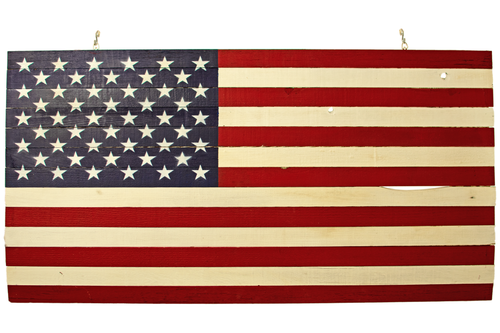 2021 Red White and Blue Wooden American Flag Handmade and Sold by Lee Display