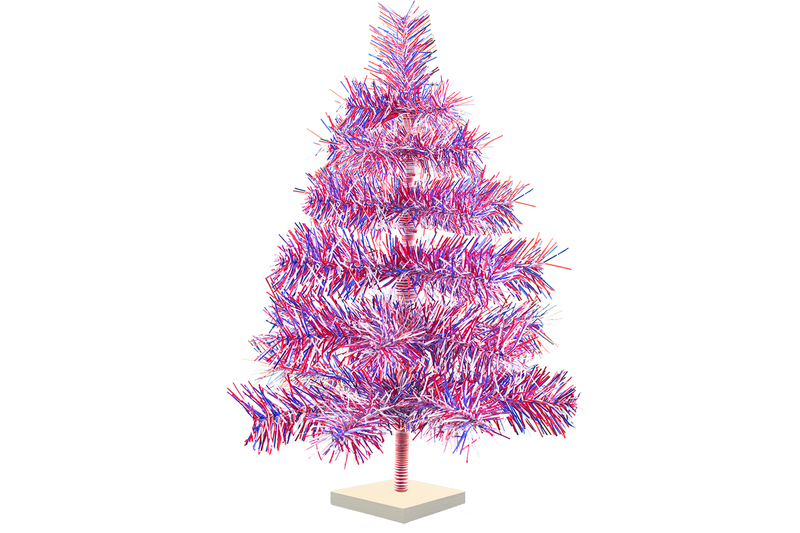 2FT Red White and Blue 4th of July Christmas Tree made and sold by Lee Display