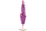 Red White and Blue 4th of July Christmas Trees with Firework Style Branches and white wooden Base made by Lee Display with folding branches for easy storage