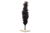 Black Tinsel Christmas Trees with White Wooden Bases made by Lee Display with folding branches