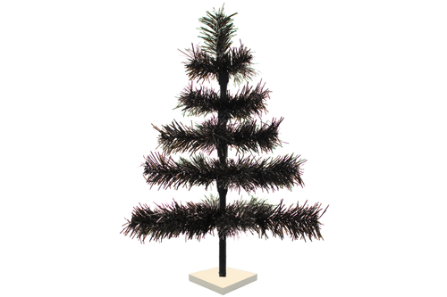 Black Tinsel Christmas Trees sold by Lee Display and made in the USA