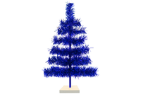 18in & 24in Blue Tinsel Christmas Trees made by Lee Display