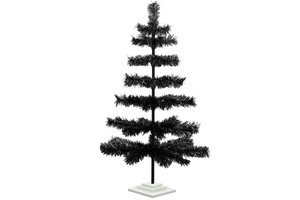 Black Tinsel Tree