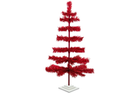 3ft Red Tinsel Christmas Trees sold by Lee Display