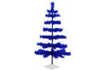 36in Blue Tinsel Christmas Trees made by Lee Display