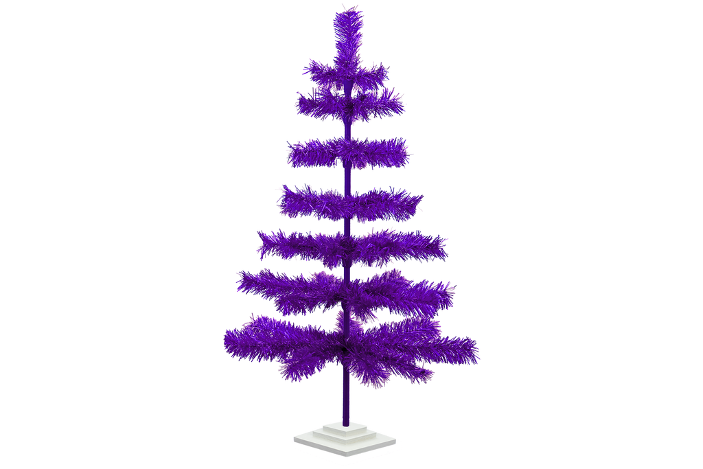 36in Purple Tinsel Christmas Trees made by Lee Display - Shop Now!