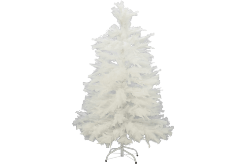3ft Real White Goose Feather Christmas Trees sold by Lee Display