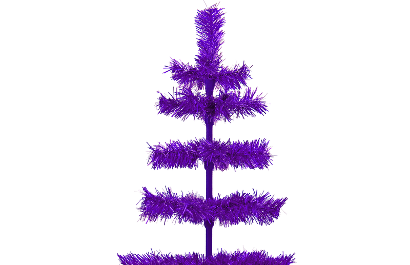 Purple Tinsel Christmas Tree