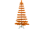 5ft Orange Tinsel Christmas Tree with Green Metal Stand Included sold by Lee Display