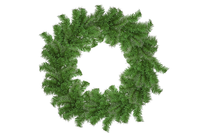 18IN Shiny Alpine Green Tinsel Christmas Wreaths!    Decorative 18in Diameter door hanging wreaths made by Lee Display.