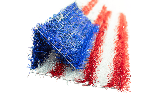 Tinsel Brush American Flags
