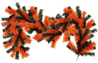 Orange and Black Halloween Christmas Garland 6ft Length Lee Display Store