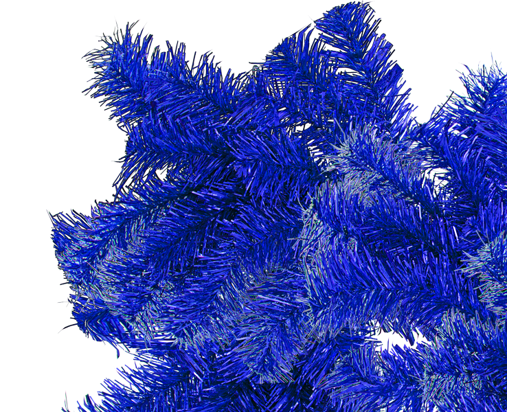 Blue Christmas Garland