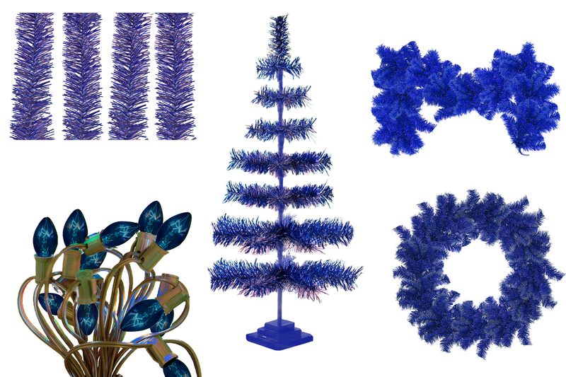 Lee Display has created the perfect Christmas Decoration starter kit!    All your favorite items bundled together by color.  Make your holiday shopping easier than ever by purchasing all your decorations in one simple starter kit and save up to 40% on trees, garland, wreaths, and lights in Blue