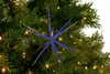 Blue Starburst Christmas Ornament decorations sold by Lee Display