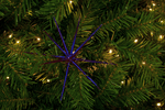 Blue Starburst Christmas Ornament decorations sold by Lee Display!