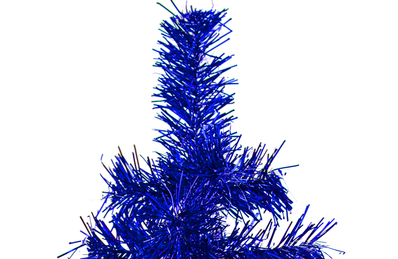 Blue Tinsel Tree
