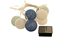 Blue & White Lantern Solar Lights