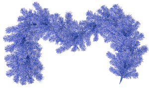 Blue and White Christmas Garland