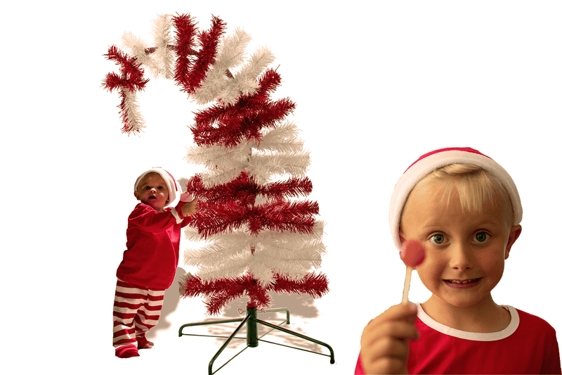 Dr. Seuss Red & White Tinsel Christmas Tree