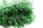 Green, Silver, & Black Tinsel Garland