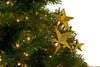 Gold Star Picks Decorations on Christmas Tree Sold by Lee Display