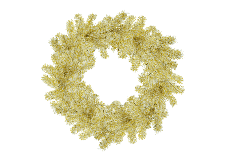 18IN Shiny Gold Tinsel Christmas Wreaths!    Decorative 18in Diameter door hanging wreaths made by Lee Display.