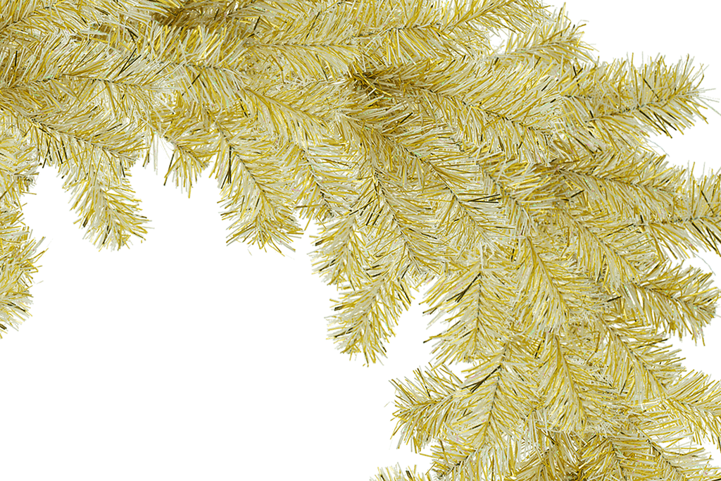 Gold Tinsel Christmas Wreaths