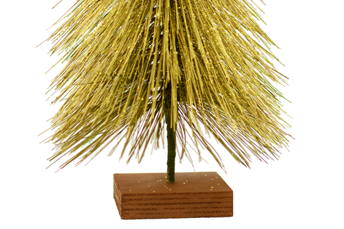 Mini Gold Tabletop Christmas Tree